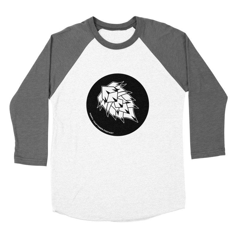 Hops Circles Men's Baseball Triblend Longsleeve T-Shirt by Hoppy Craftsmen's Swag Portal