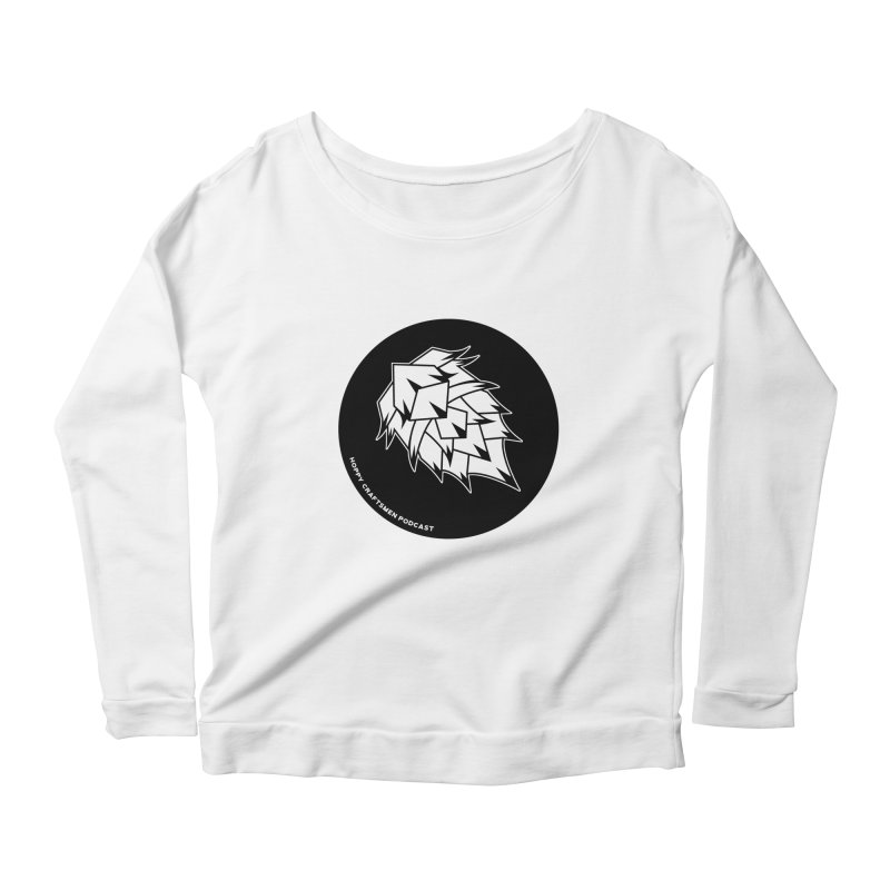 Hops Circles Women's Longsleeve Scoopneck  by Hoppy Craftsmen's Swag Portal