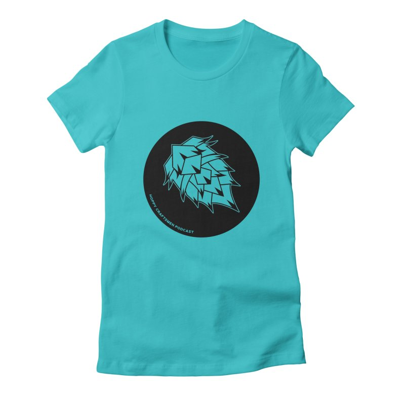 Hops Circles Women's Fitted T-Shirt by Hoppy Craftsmen's Swag Portal