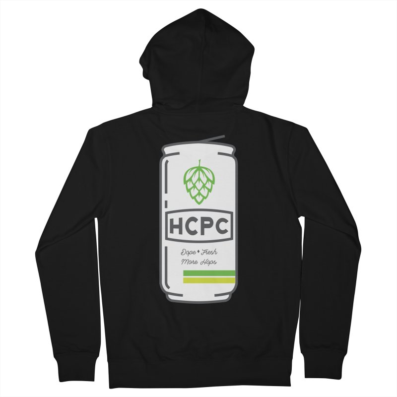 Dope Can Men's French Terry Zip-Up Hoody by Hoppy Craftsmen's Swag Portal