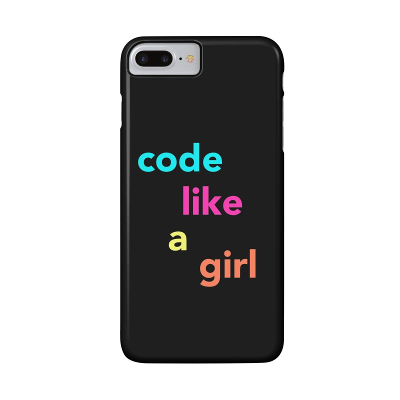 Code Like a Girl Accessories Phone Case by Hopscotch Swag Center