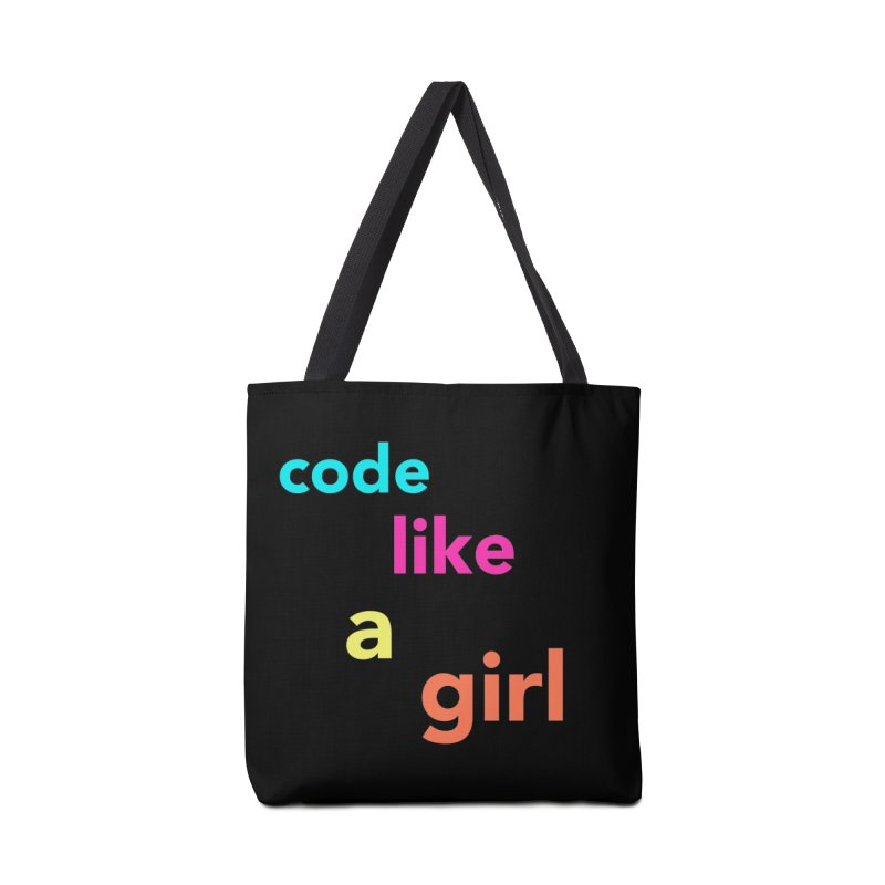 Code Like a Girl Accessories Tote Bag Bag by Hopscotch Swag Center