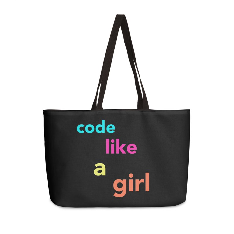 Code Like a Girl Accessories Weekender Bag Bag by Hopscotch Swag Center