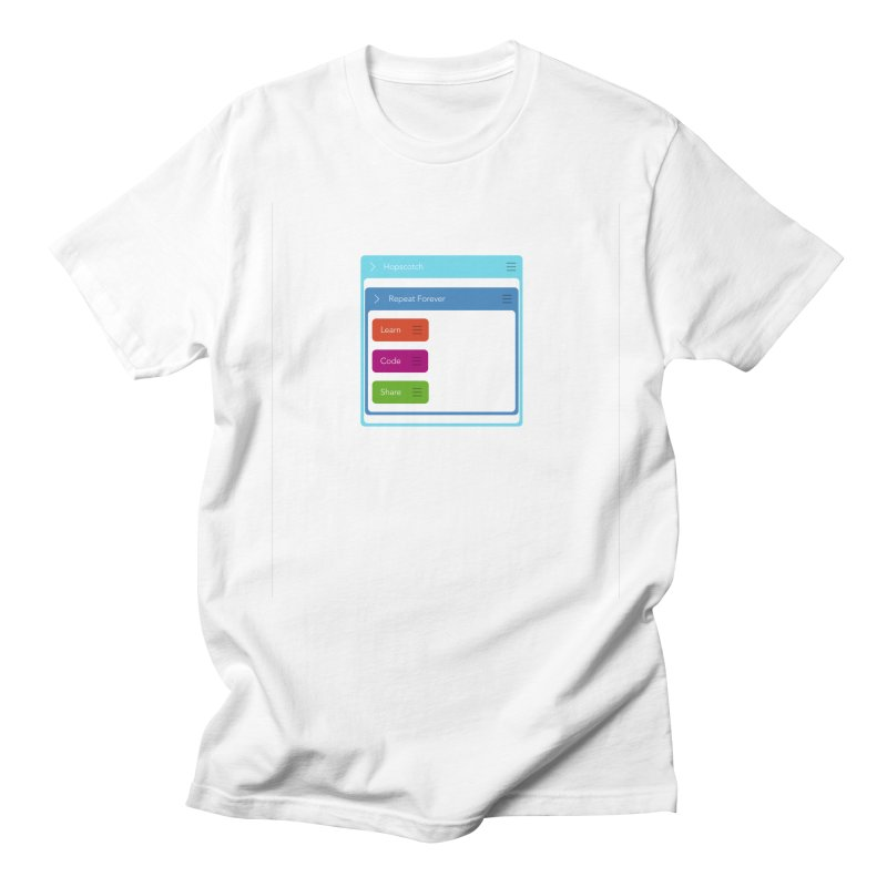 Learn, Code, Share, Repeat Men's T-shirt by Hopscotch Swag Center
