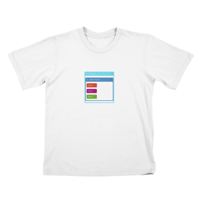 Learn, Code, Share, Repeat Kids T-Shirt by Hopscotch Swag Center