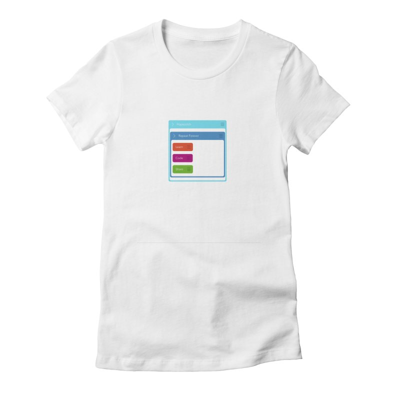 Learn, Code, Share, Repeat Women's Fitted T-Shirt by Hopscotch Swag Center