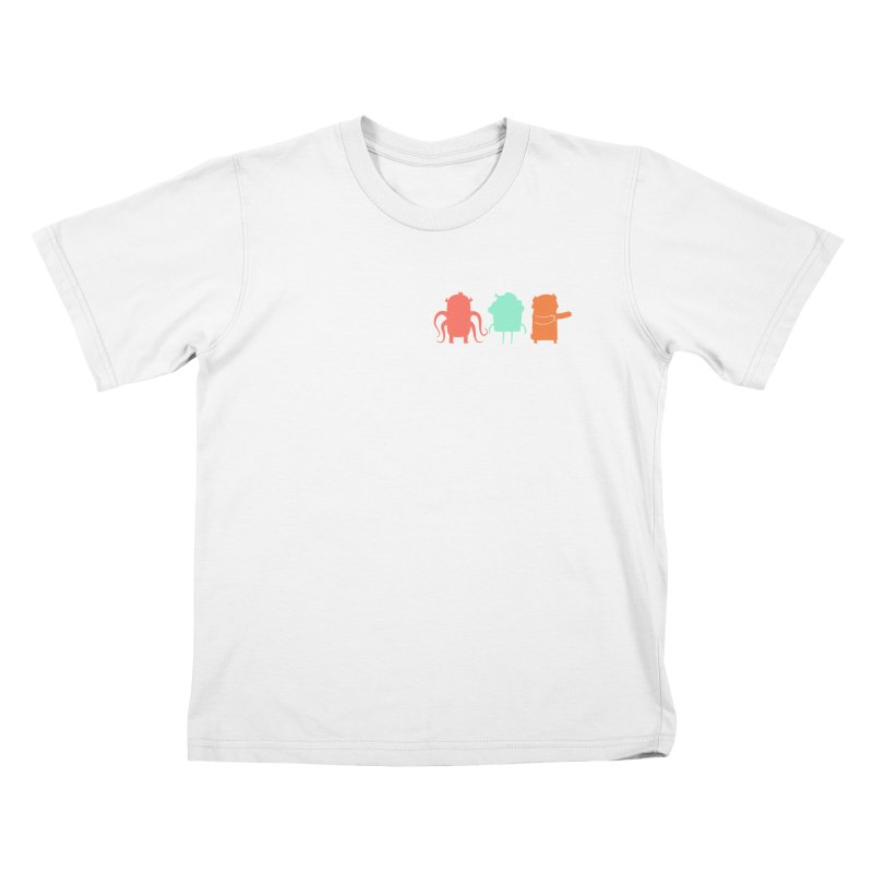 Octo, Cupcake and Bear (oh my!) Kids T-Shirt by Hopscotch Swag Center