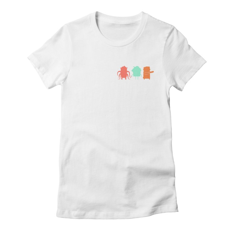 Octo, Cupcake and Bear (oh my!) Women's Fitted T-Shirt by Hopscotch Swag Center