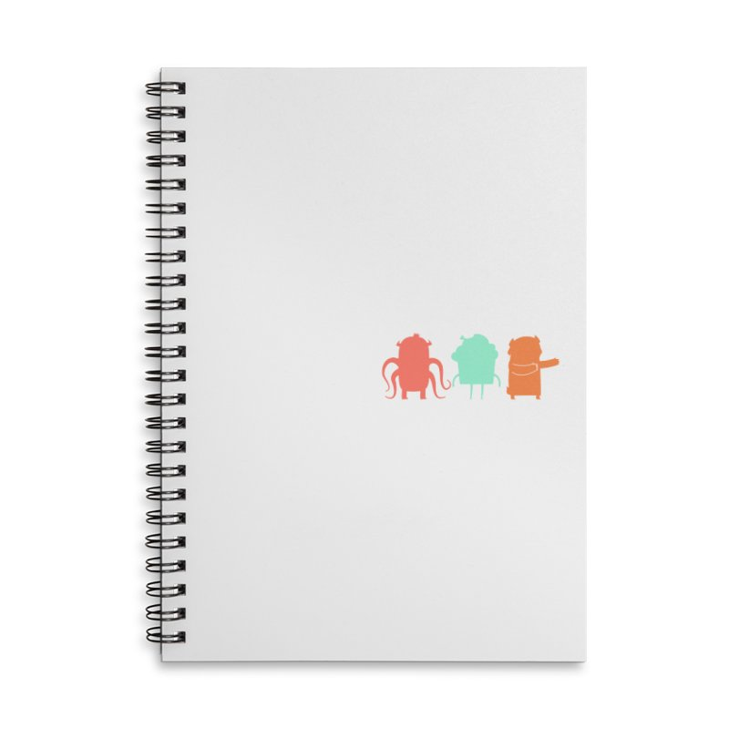 Octo, Cupcake and Bear (oh my!) Accessories Lined Spiral Notebook by Hopscotch Swag Center
