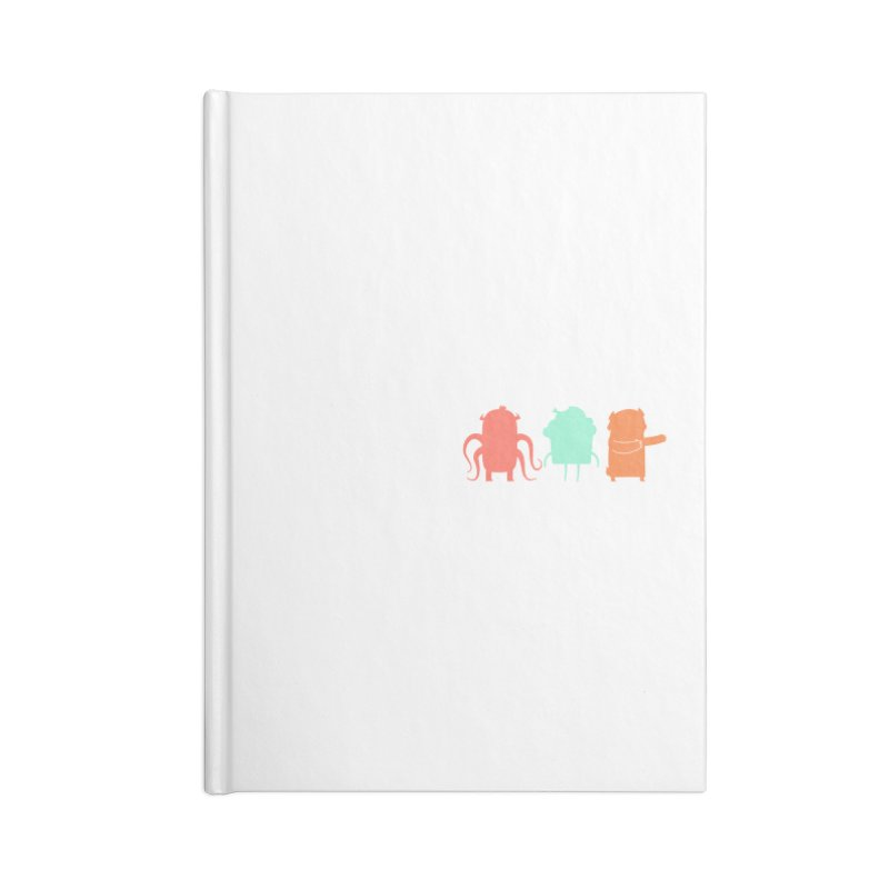 Octo, Cupcake and Bear (oh my!) Accessories Lined Journal Notebook by Hopscotch Swag Center