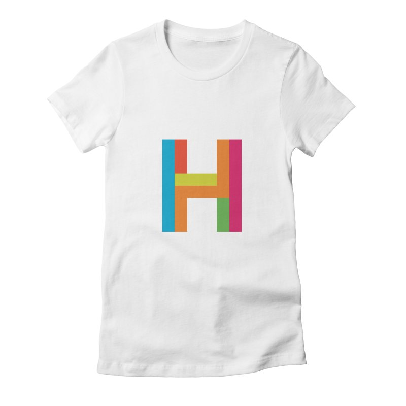 Hopscotch Logo Women's Fitted T-Shirt by Hopscotch Swag Center