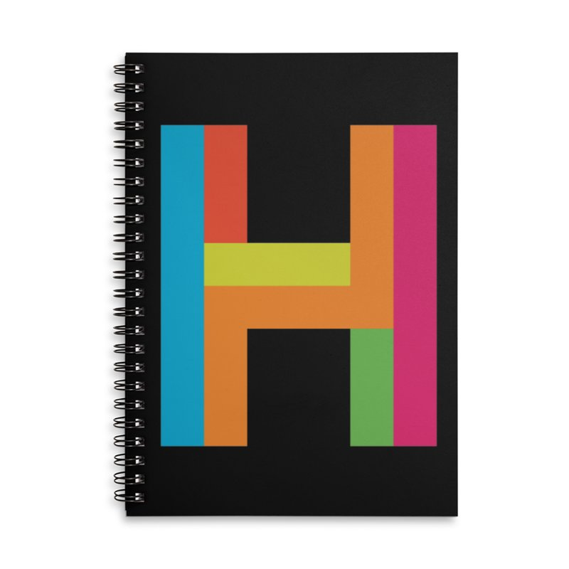 Hopscotch Logo Accessories Lined Spiral Notebook by Hopscotch Swag Center