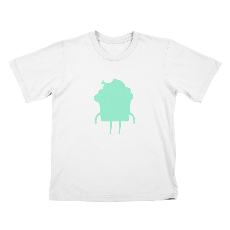 Cupcake in Kids T-Shirt White by Hopscotch Swag Center