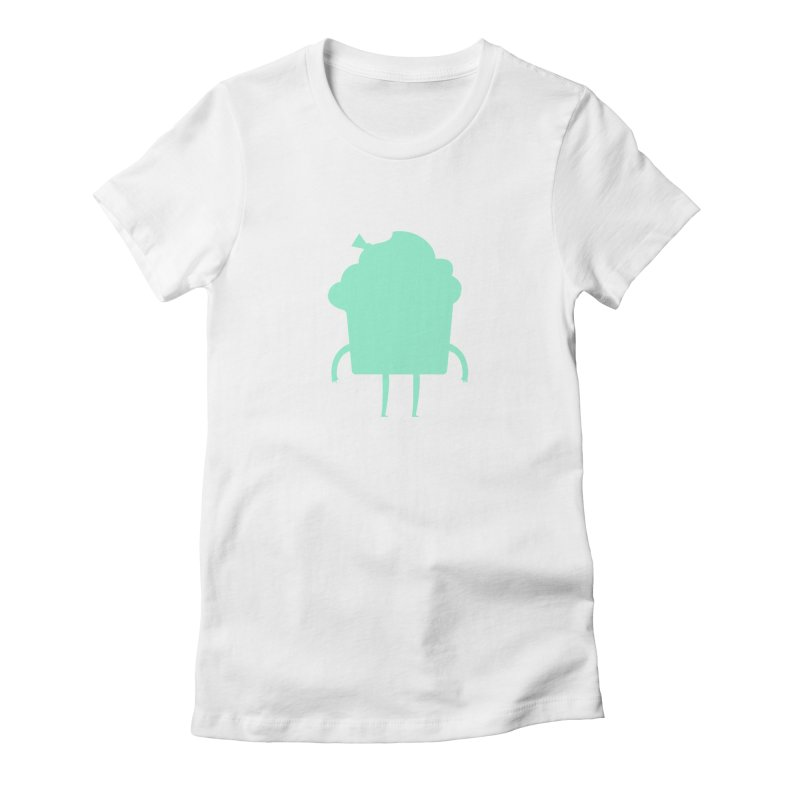 Cupcake Women's Fitted T-Shirt by Hopscotch Swag Center
