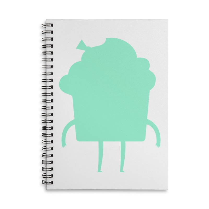 Cupcake Accessories Lined Spiral Notebook by Hopscotch Swag Center