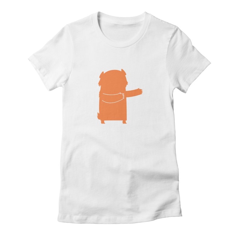 Bear Women's Fitted T-Shirt by Hopscotch Swag Center