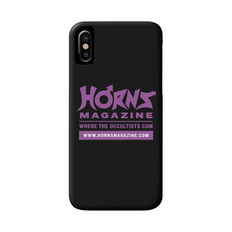 HORNS Logo Merchandise Accessories Phone Case by HORNS Magazine Merch Store