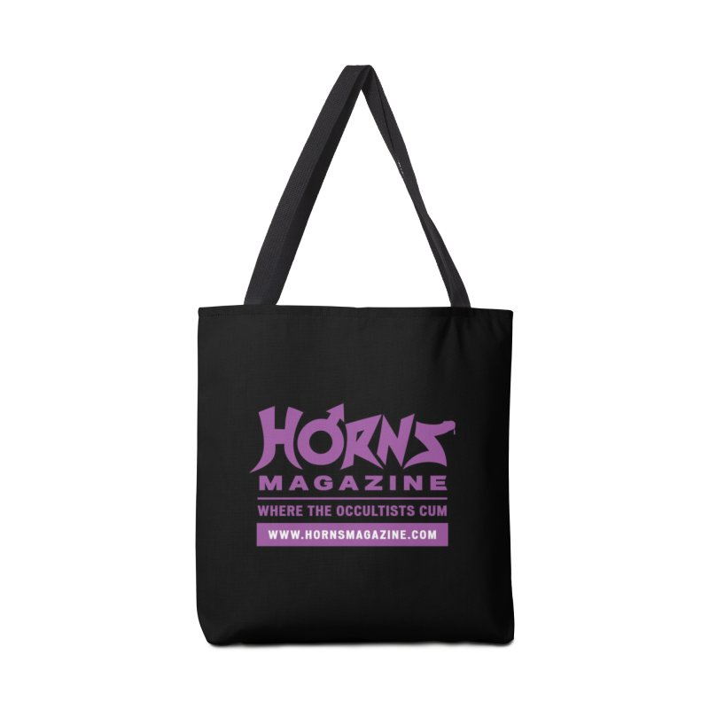 HORNS Logo Merchandise Accessories Tote Bag Bag by HORNS Magazine Merch Store
