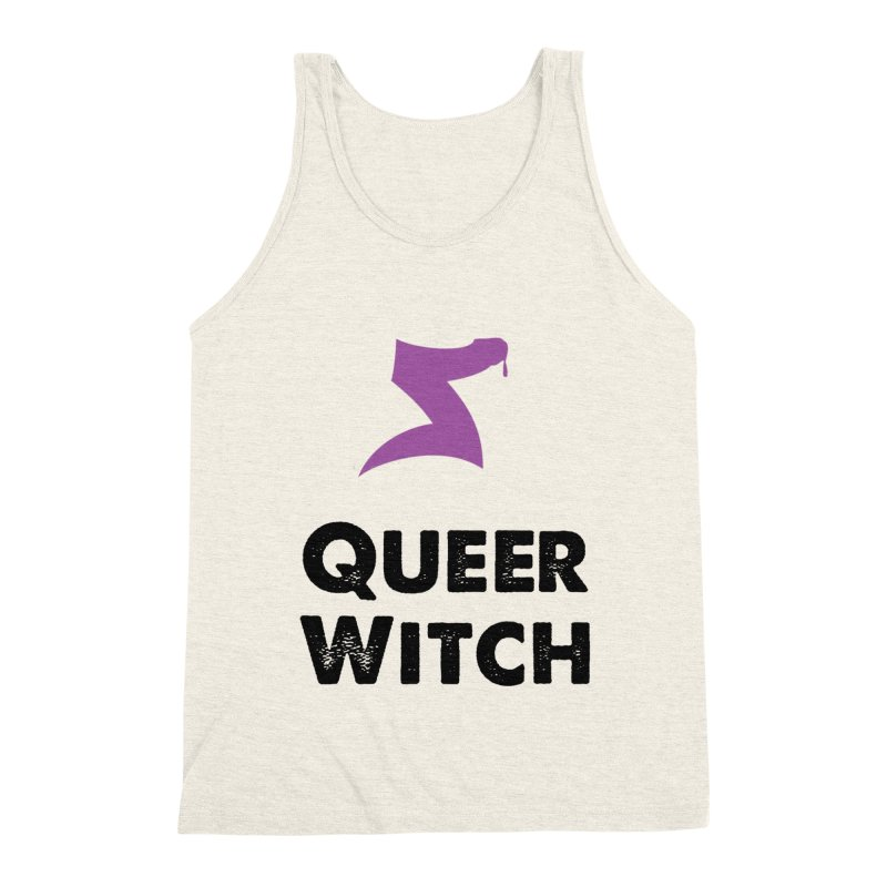 Queer Witch T-Shirt Men's Triblend Tank by HORNS Magazine Merch Store