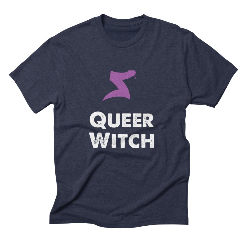 Queer Witch Dark Clothing Men's Triblend T-Shirt by HORNS Magazine Merch Store