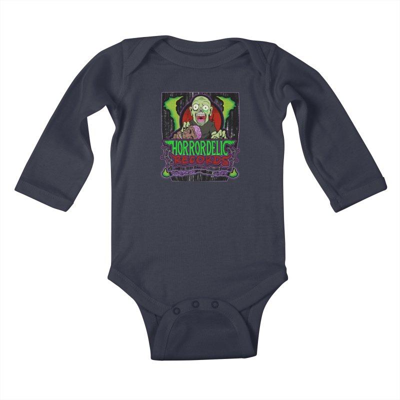 Darkpsy Life Kids Baby Longsleeve Bodysuit by Horrordelic Darkpsy Merch