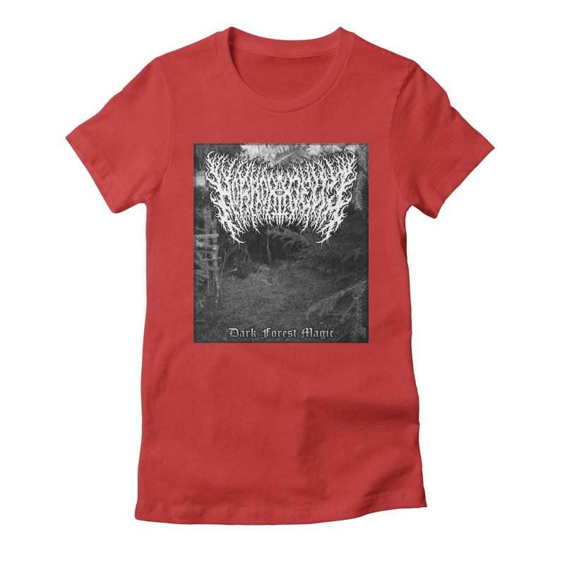 Horrordelic - Dark Forest Magic Women's Fitted T-Shirt by Horrordelic Darkpsy Merch