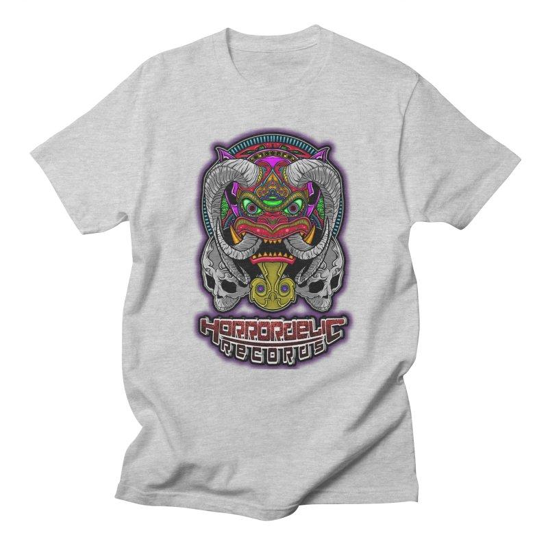 Horrordelic Classic Demon Men's Regular T-Shirt by Horrordelic Darkpsy Merch