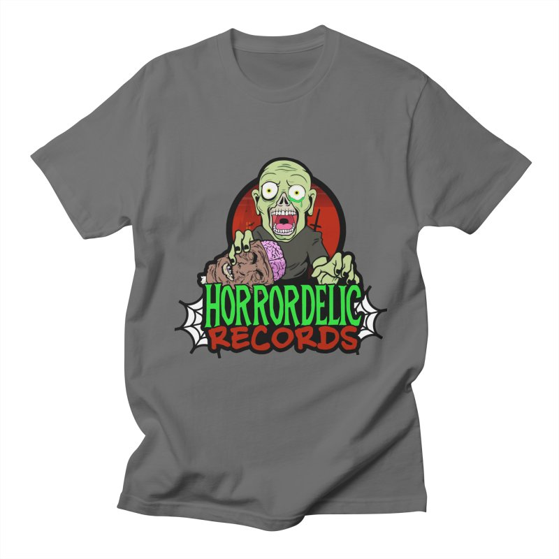 Horrordelic Brain Feasting Zombie Men's T-Shirt by Horrordelic Darkpsy Merch