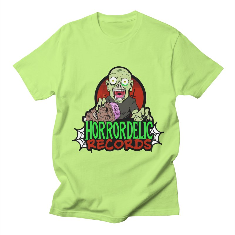 Horrordelic Brain Feasting Zombie Men's Regular T-Shirt by Horrordelic Darkpsy Merch