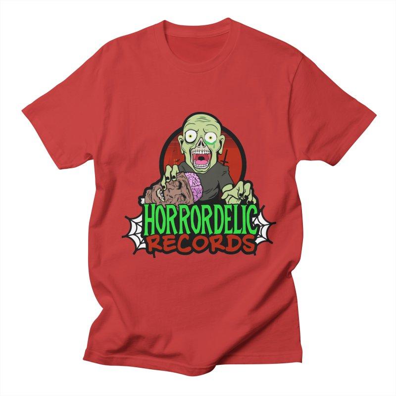 Horrordelic Brain Feasting Zombie Men's Regular T-Shirt by Horrordelic Darkpsy Merch