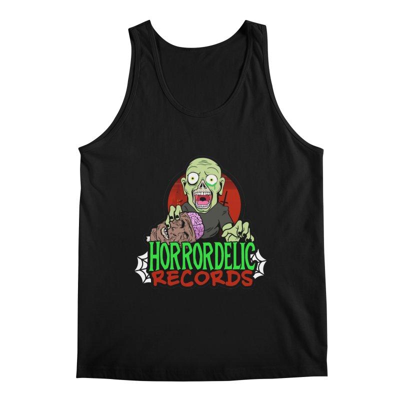 Horrordelic Brain Feasting Zombie Men's Regular Tank by Horrordelic Darkpsy Merch