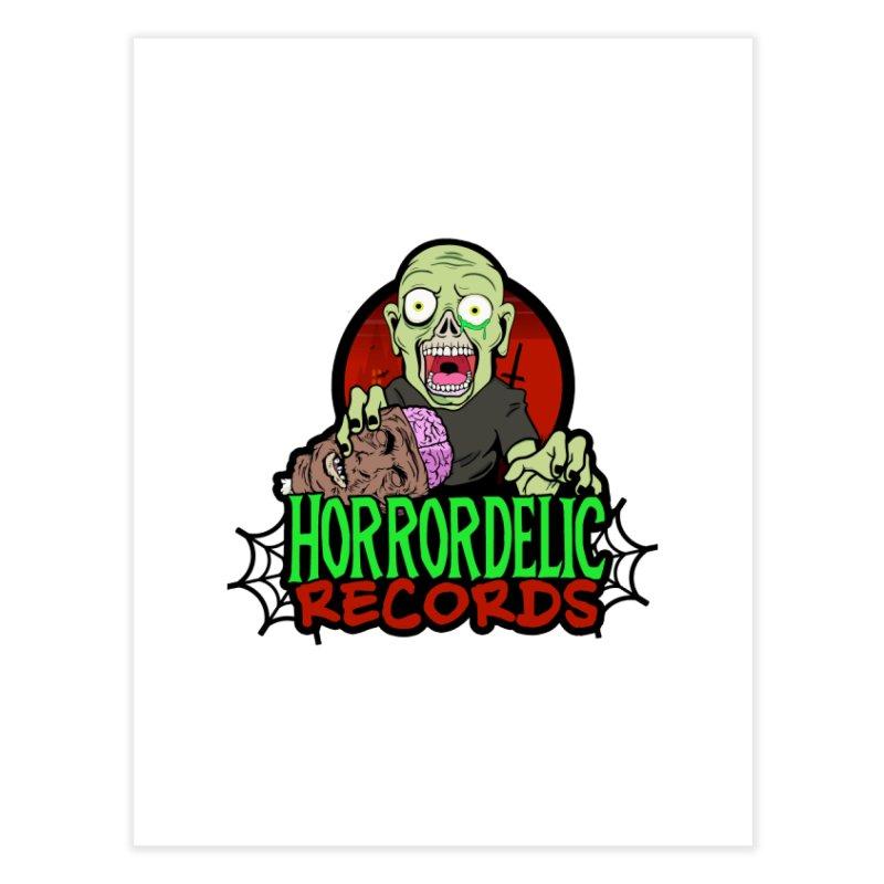 Horrordelic Brain Feasting Zombie Home Fine Art Print by Horrordelic Darkpsy Merch