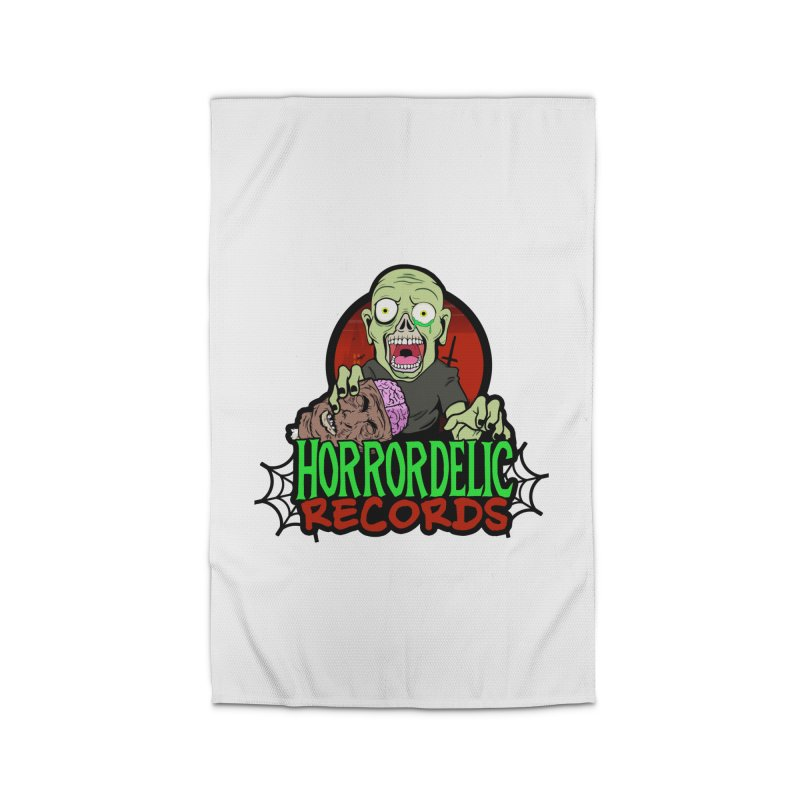 Horrordelic Brain Feasting Zombie Home Rug by Horrordelic Darkpsy Merch
