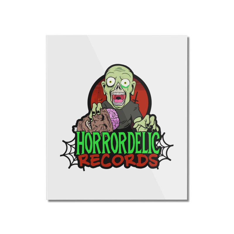 Horrordelic Brain Feasting Zombie Home Mounted Acrylic Print by Horrordelic Darkpsy Merch
