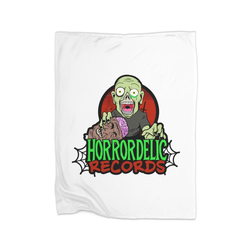 Horrordelic Brain Feasting Zombie Home Fleece Blanket Blanket by Horrordelic Darkpsy Merch