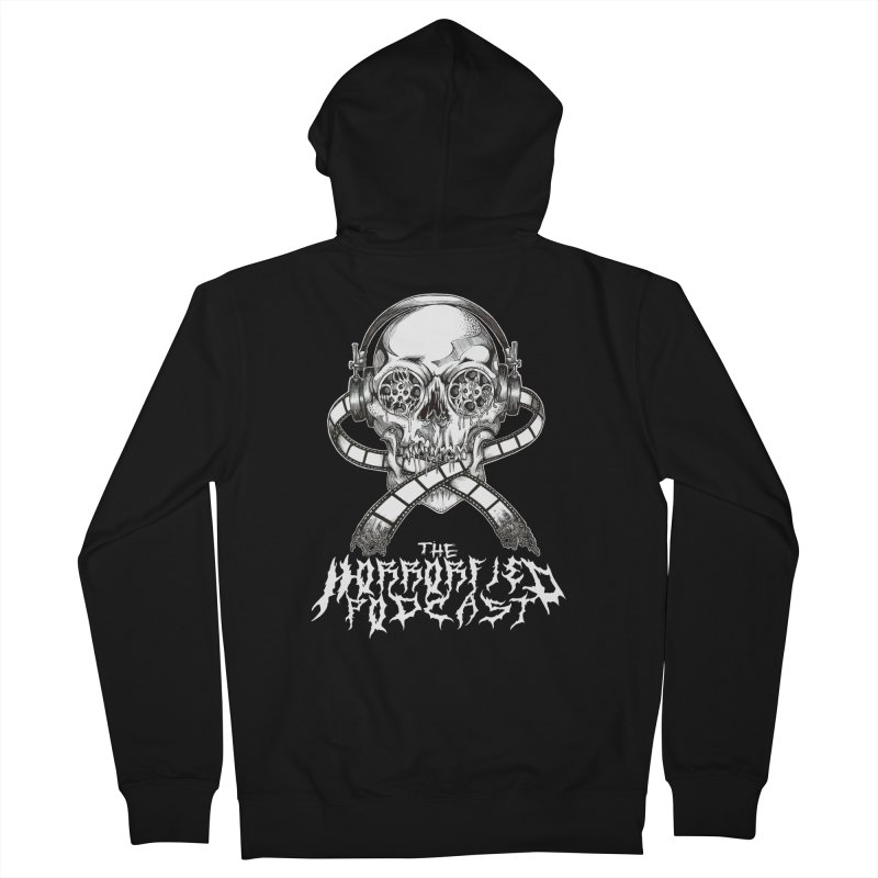 Reel Skull (Black Metal Variant) Women's Zip-Up Hoody by The Horrorfied Storecast