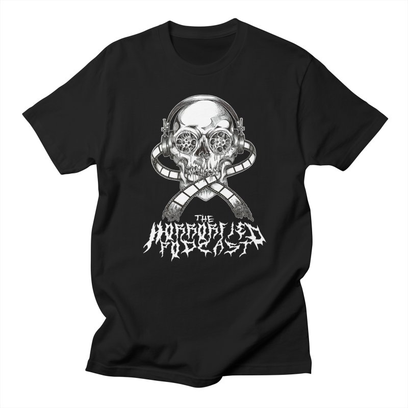 Reel Skull (Black Metal Variant) Men's T-Shirt by The Horrorfied Storecast