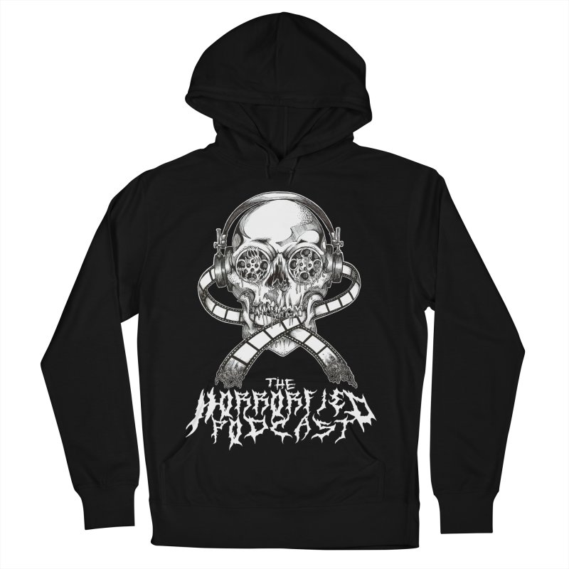 Reel Skull (Black Metal Variant) Women's French Terry Pullover Hoody by The Horrorfied Storecast