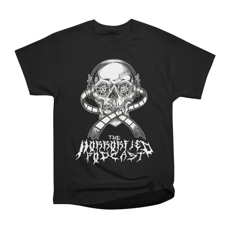 Reel Skull (Black Metal Variant) Men's Heavyweight T-Shirt by The Horrorfied Storecast
