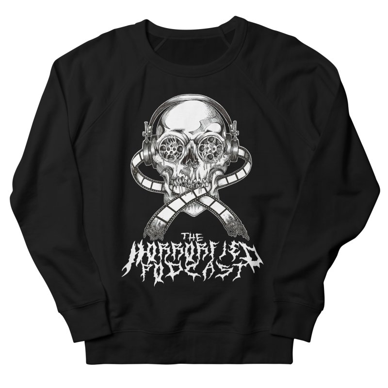Reel Skull (Black Metal Variant) Men's French Terry Sweatshirt by The Horrorfied Storecast
