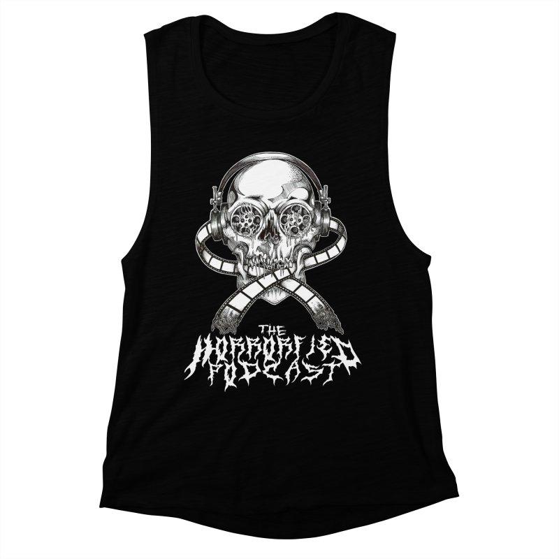Reel Skull (Black Metal Variant) Women's Muscle Tank by The Horrorfied Storecast