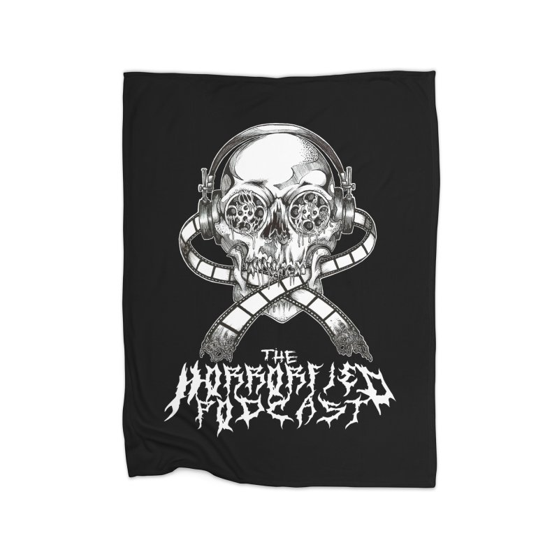 Reel Skull (Black Metal Variant) Home Blanket by The Horrorfied Storecast