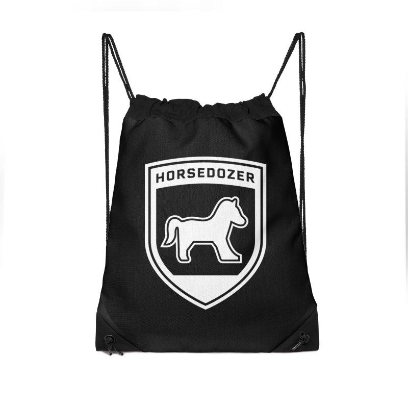 HORSEDOZER SHIELD (WHITE) Accessories Bag by HORSEDOZER