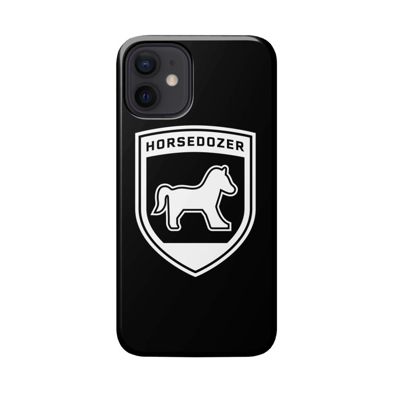HORSEDOZER SHIELD (WHITE) Accessories Phone Case by HORSEDOZER