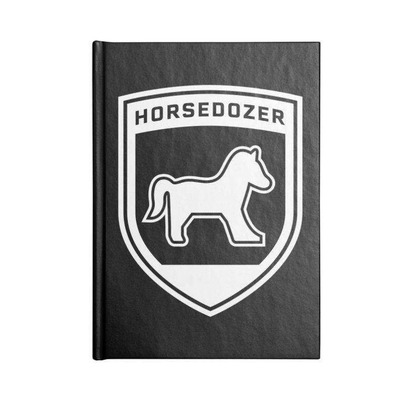 HORSEDOZER SHIELD (WHITE) Accessories Notebook by HORSEDOZER