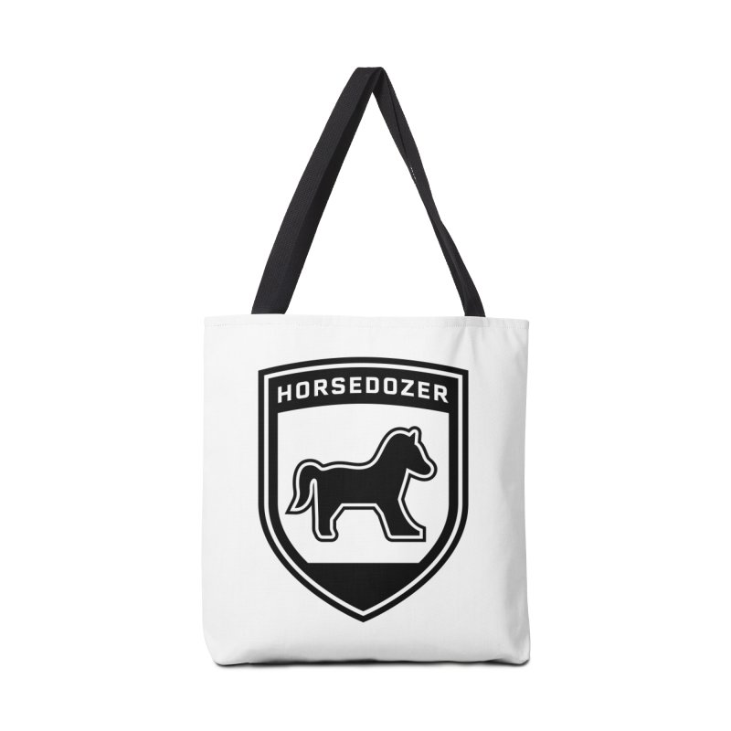 HORSEDOZER SHIELD (BLACK) Accessories Bag by HORSEDOZER