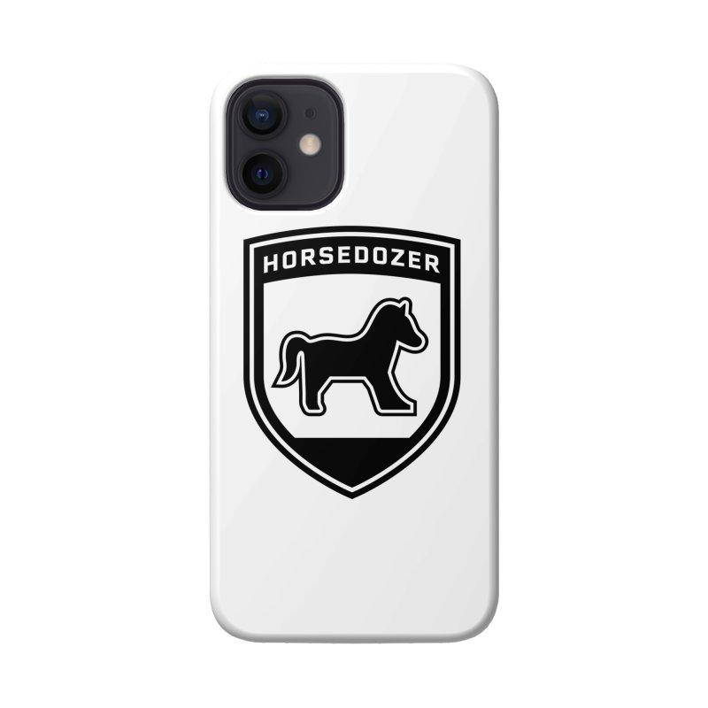 HORSEDOZER SHIELD (BLACK) Accessories Phone Case by HORSEDOZER