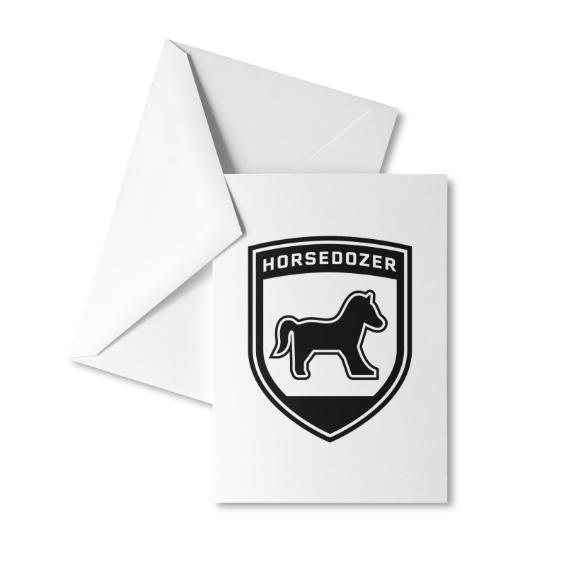 HORSEDOZER SHIELD (BLACK) Accessories Greeting Card by HORSEDOZER