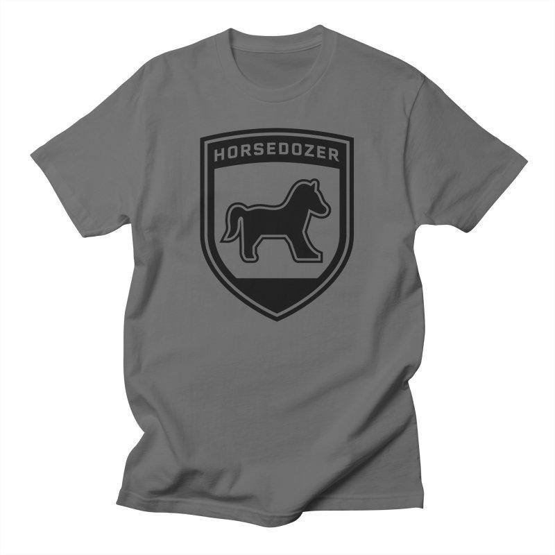 HORSEDOZER SHIELD (BLACK) Men's T-Shirt by HORSEDOZER