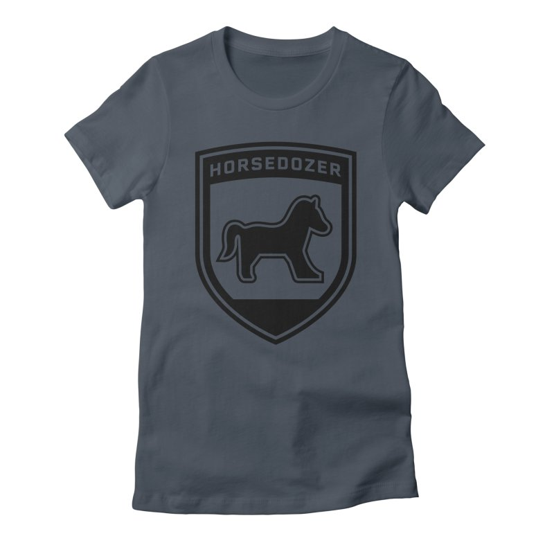 HORSEDOZER SHIELD (BLACK) Women's T-Shirt by HORSEDOZER